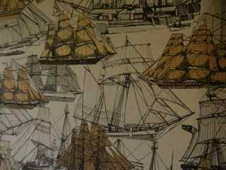 In the Field: Vintage Schooner Wallpaper