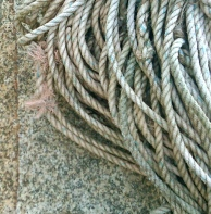 Ropes on granite
