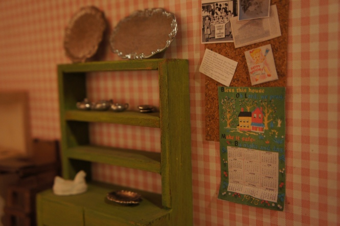 TRH dollhouse bulletin board