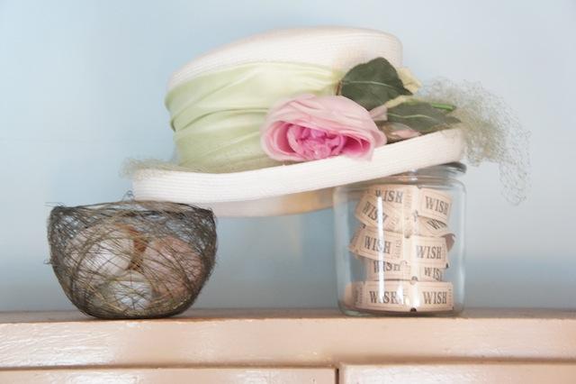 Vintage hat flower