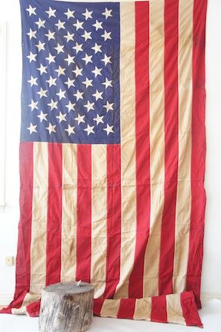 Vintage linen American flag