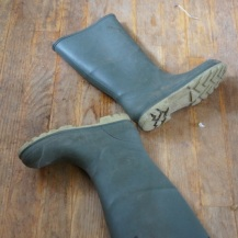 abandoned rain boots