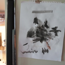 """Z's painting, titled """"Monster"""""""