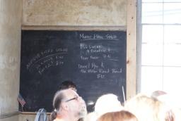 Old slate chalkboard