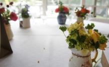 Flowers in Creamers