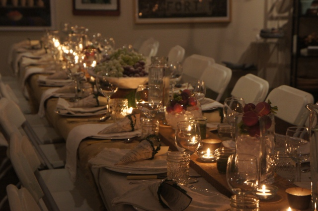 feast table long view