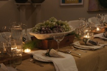 Heather's sugared grapes made a perfect centerpiece