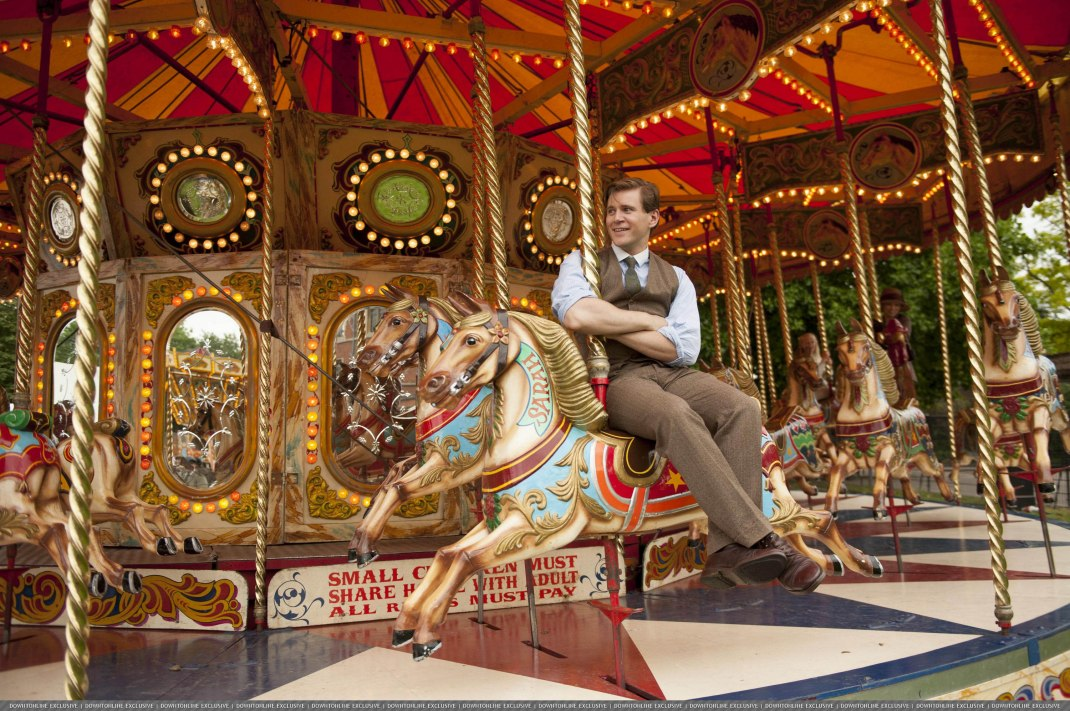 Tom on a carousel Downton