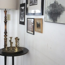 Candleholders and floor lamp