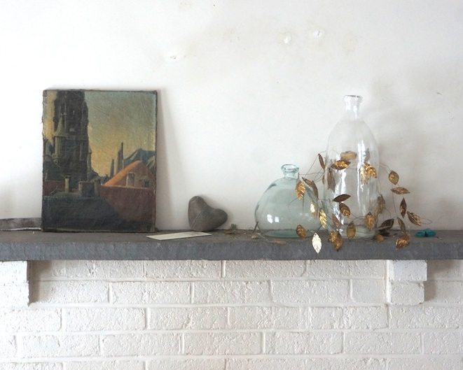 junk and not-junk on mantel