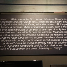 The only plaque in the place, and it actually contained meaningful text.
