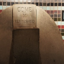 Even the drinking fountain provides a philosophical moment.