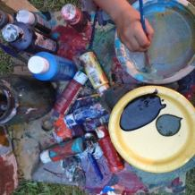Madden Road Music Fest: paint collage